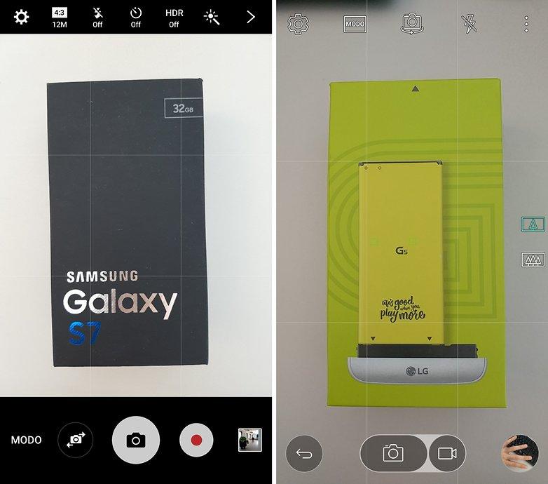 camera galaxy s7 lg g5