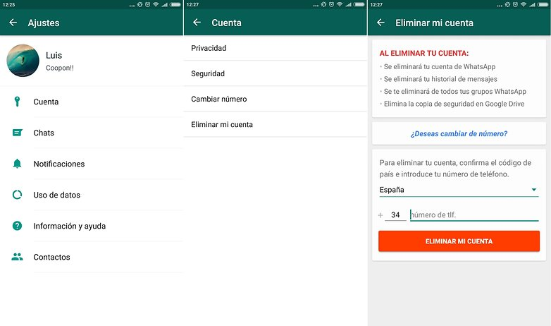 androidpit eliminar cuenta whatsapp