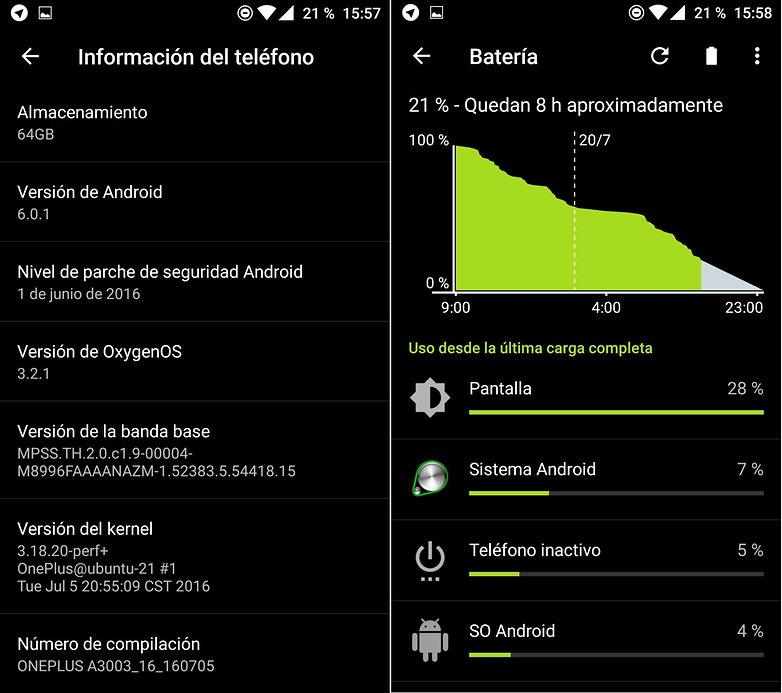 AndroidPIT oneplus 3 oxygen 3 2 1 bateria