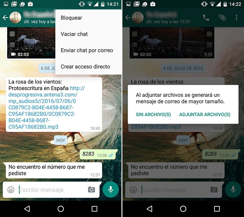 androidpit Whatsapp chat correo