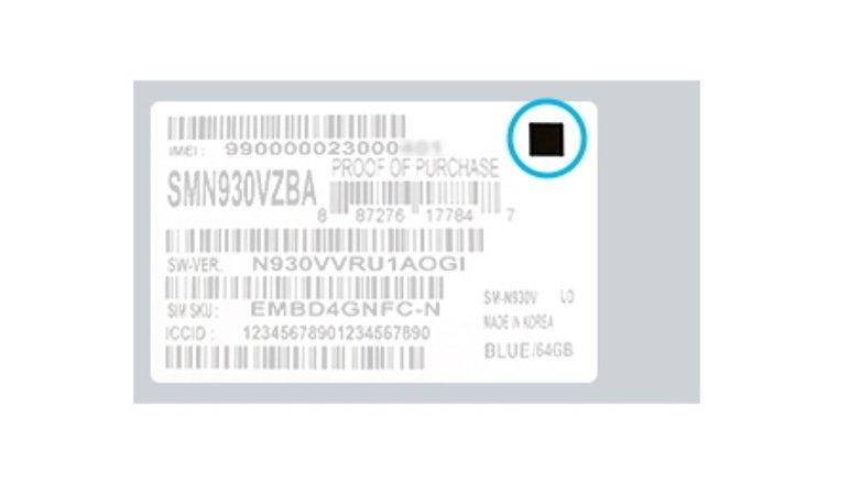 Samsung Galaxy Note7 new box square