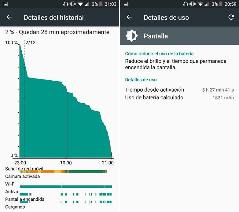AndroidPIT BQ Aquaris U Plus bateria
