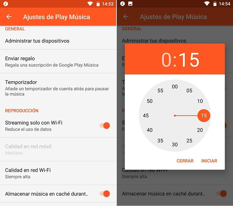 AndroidPIT Google play music temporizador