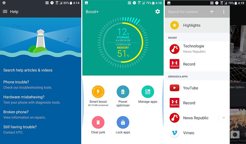AndroidPIT HTC U11 software