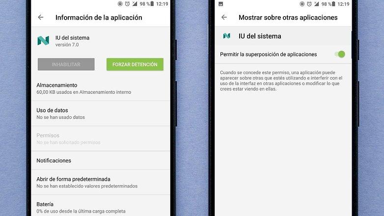 AndroidPIT IU del sistema