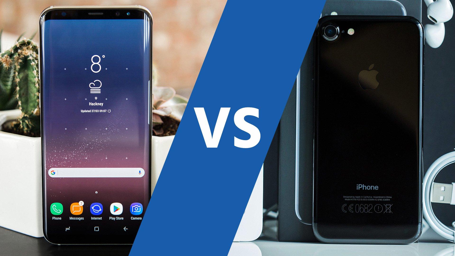 galaxy s8 vs iphone 7 le classico des smartphones