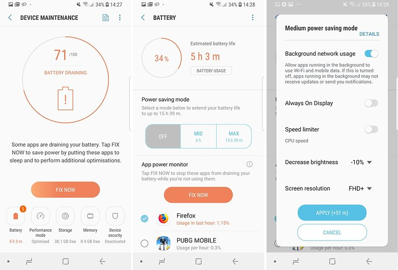 How to save battery power on the Samsung Galaxy S9 and S9+