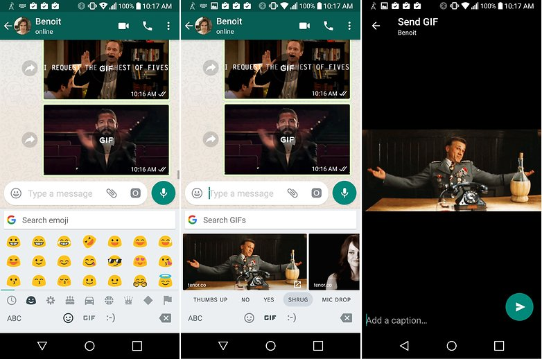 AndroidPIT WhatsApp Gboard gif
