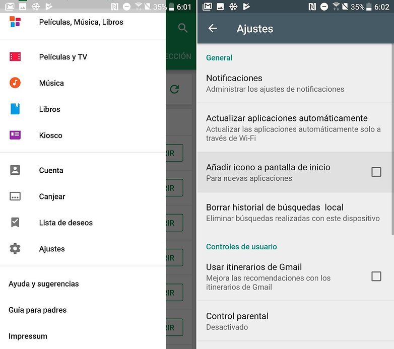 AndroidPIT accesos directos