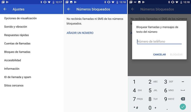AndroidPIT bloquear contactos bq