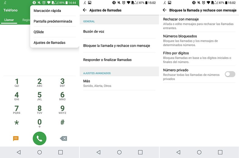 AndroidPIT bloquear contactos lg