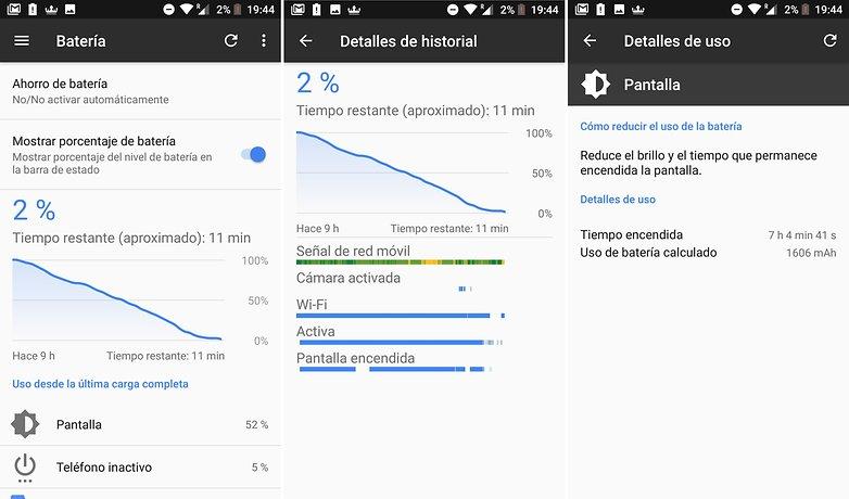 AndroidPIT bq aquaris x pro bateria