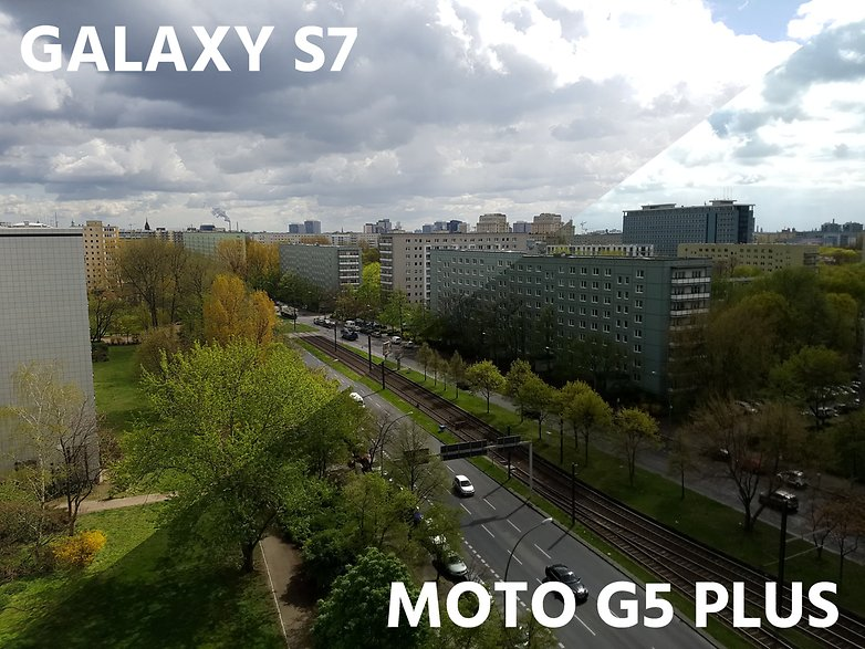 AndroidPIT camera comparation s7 vs moto g5 plus landscape high contrast