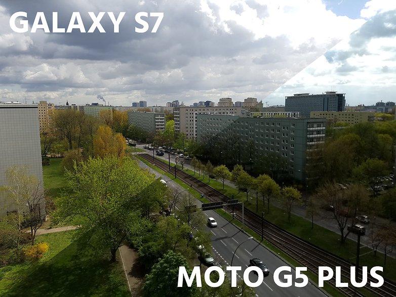 AndroidPIT camera comparation s7 vs moto g5 plus landscape high contrast