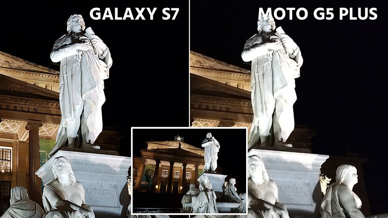 AndroidPIT camera comparation s7 vs moto g5 plus night comparison