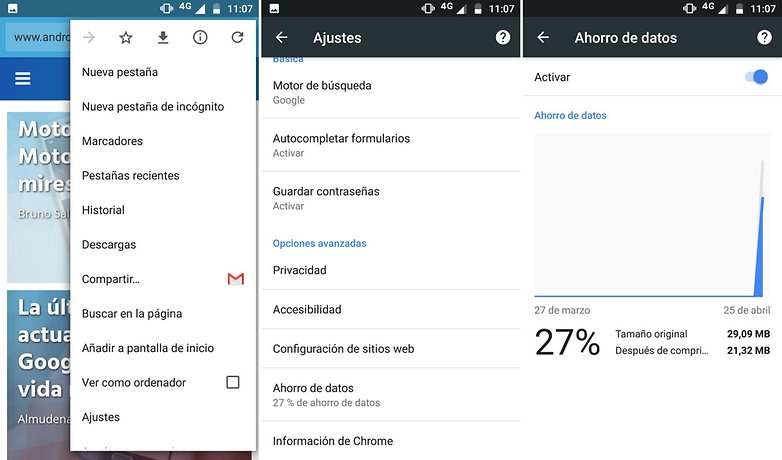 AndroidPIT chrome ahorrar datos