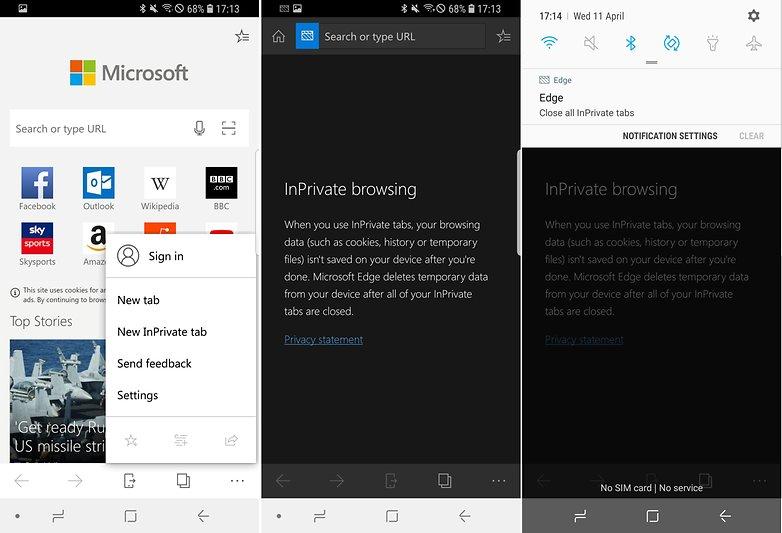 AndroidPIT edge incognito