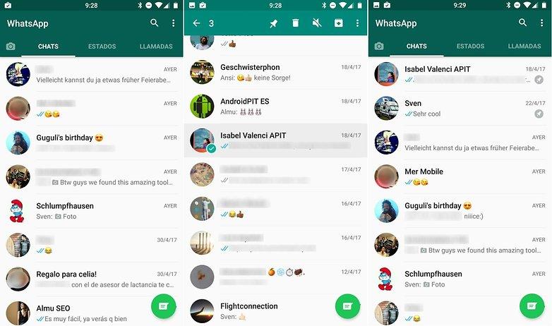 AndroidPIT fijar chats