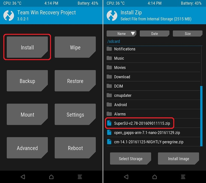 AndroidPIT install recovery root