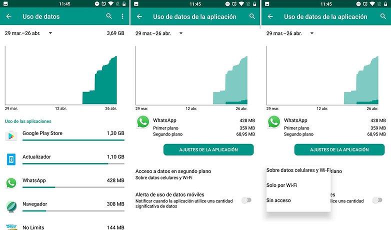 AndroidPIT limitar datos aplicaicones