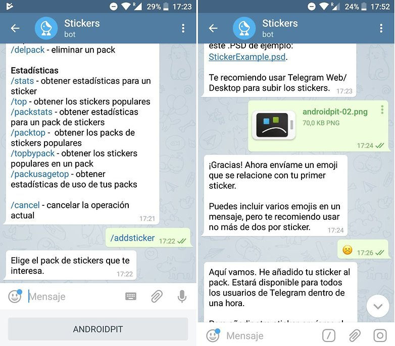 AndroidPIT nuevo sticker telegram