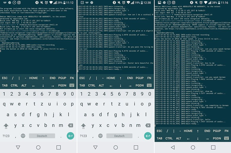 AndroidPIT raspberry pi 3 google assistant ssh
