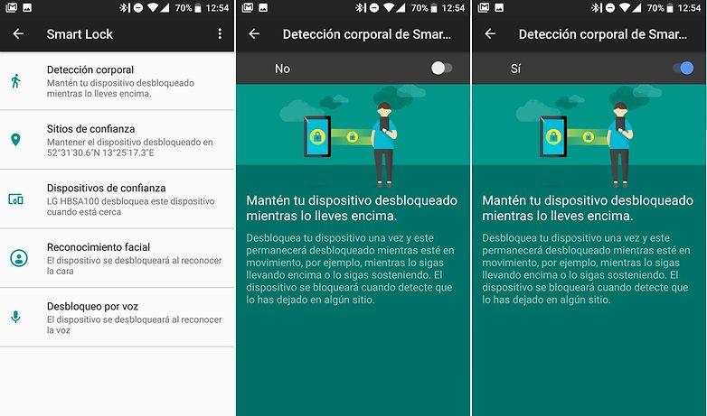 AndroidPIT smart lock deteccion corporal 04