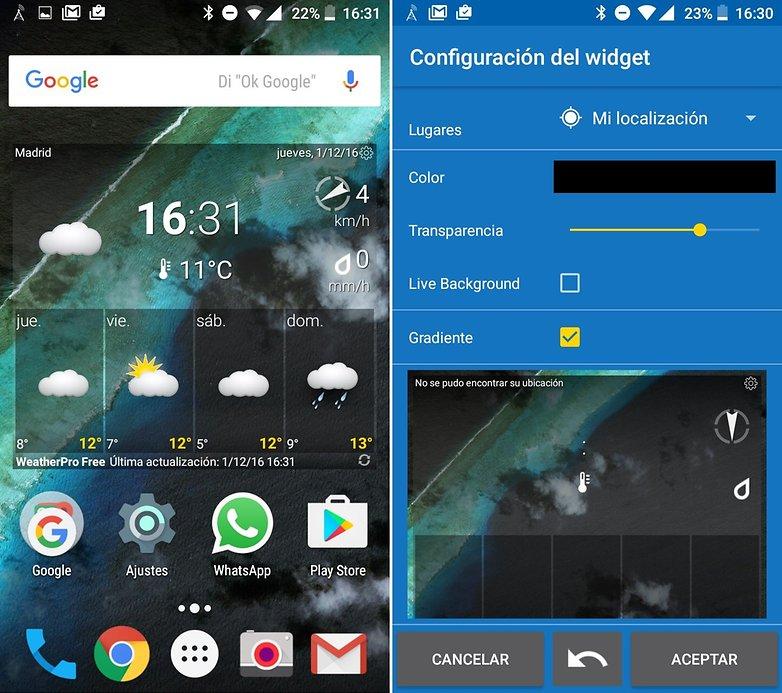 AndroidPIT weatherpro