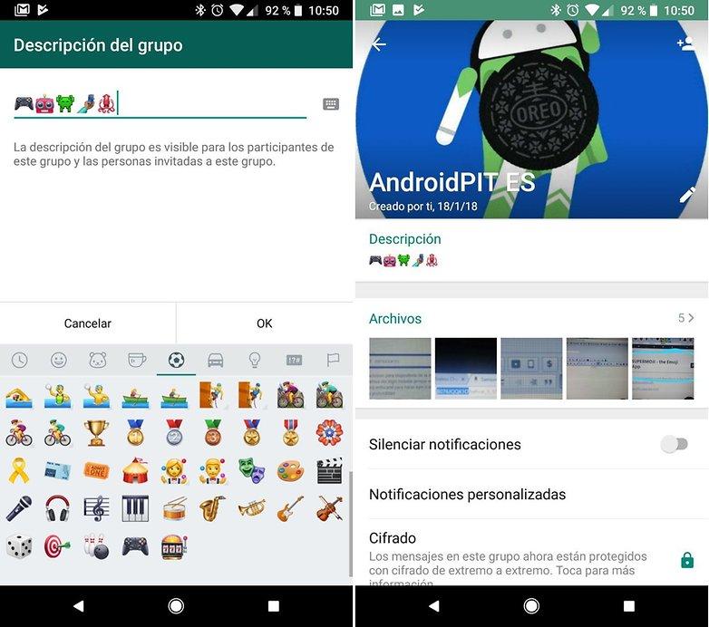 AndroidPIT whatsapp descripcion grupos