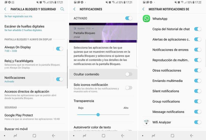 Androidpit ajustes notificaciones pantalla bloqueo samsung