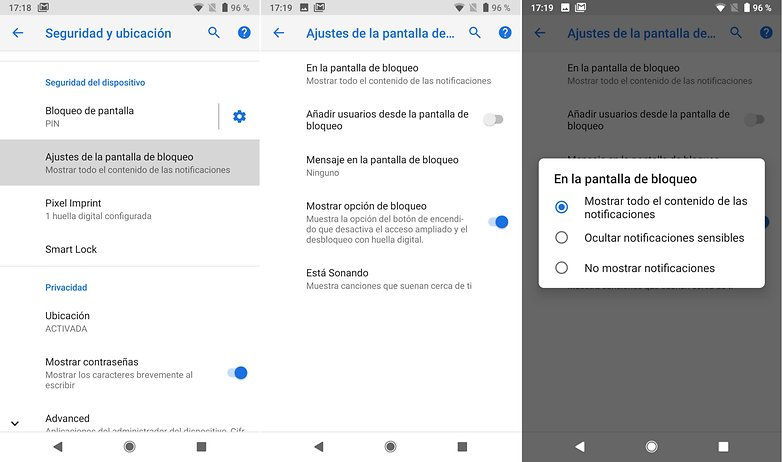 Androidpit ajustes notificaciones pantalla bloqueo