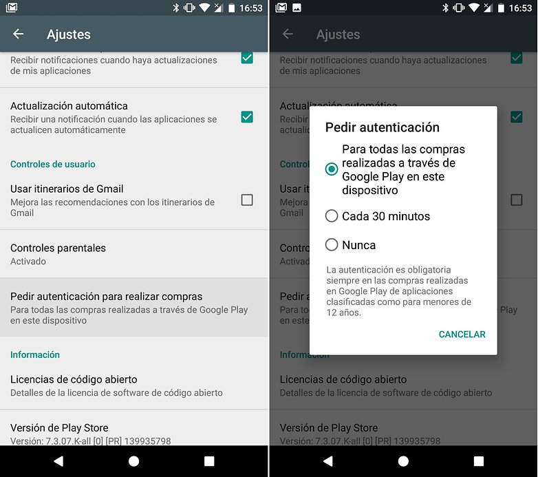 Androidpit control parental compras integradas 02