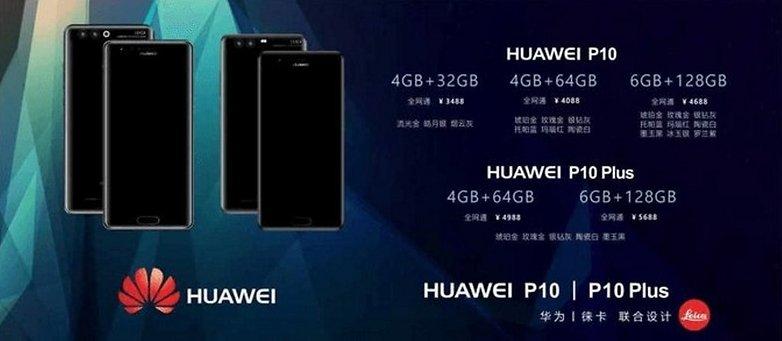 Huawei P10 Huawei P10 Plus price
