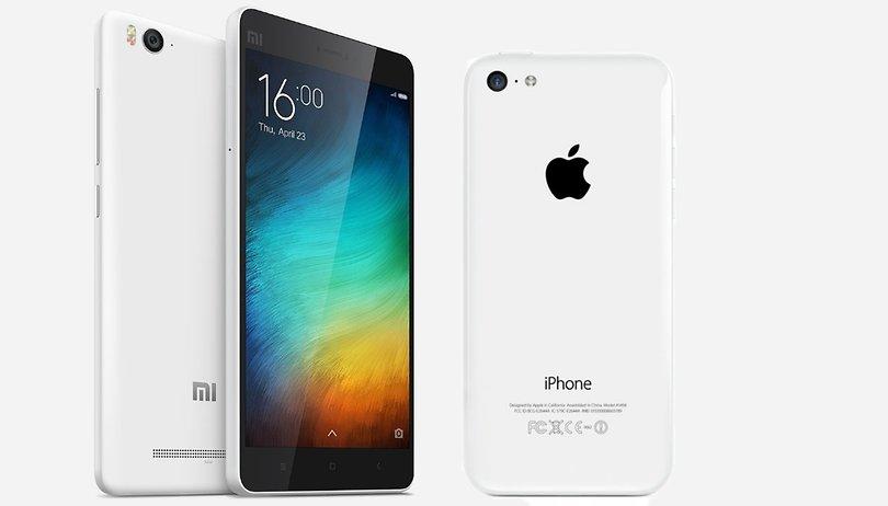 Xiaomi Mi 4i vs. Apple iPhone 5C: Comparação de supostos gêmeos