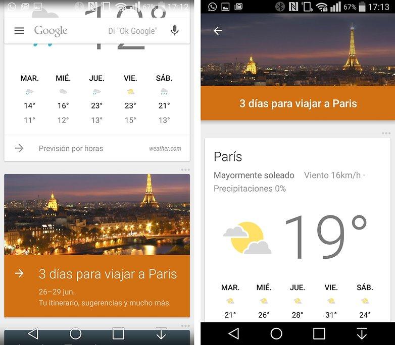 Google now viajes