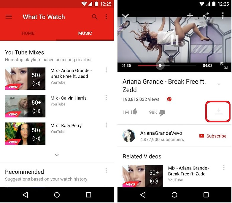 descargar videos youtube android