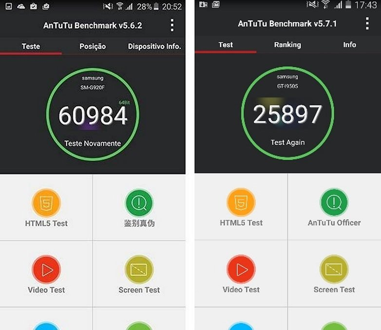 galaxy s6 s4 benchmark