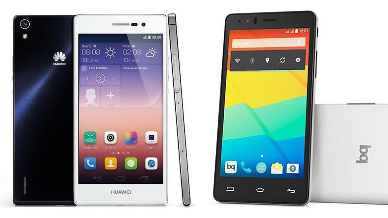 bq aquaris e5 4g vs huawei ascend p7