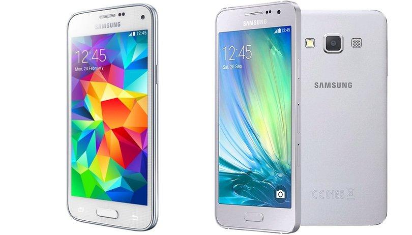 Comparación Samsung Galaxy A3 vs Samsung S5 Mini - Metal contra plástico