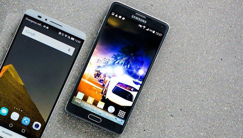 Samsung Galaxy Note 4 vs Huawei Ancend Mate 7: Comparación de viejas glorias