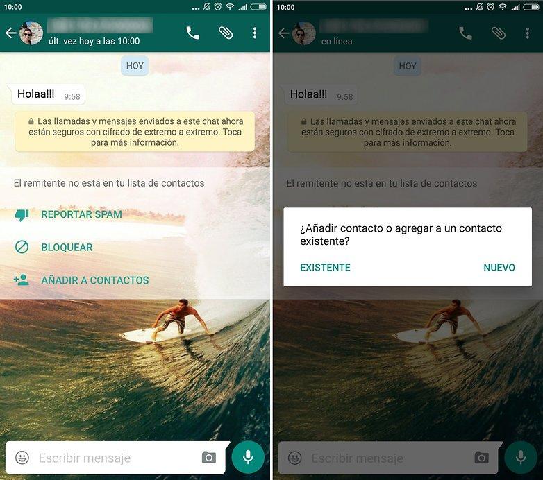 androidpit whatsapp nueva interfaz contacto desconocido
