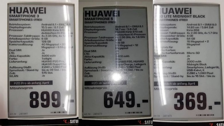 huawei p20 prices saturn germany