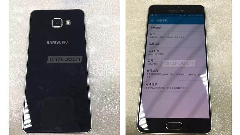Galaxy a5 2016 leak