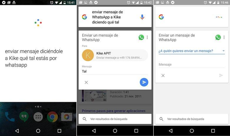 mensajes whatsapp google now