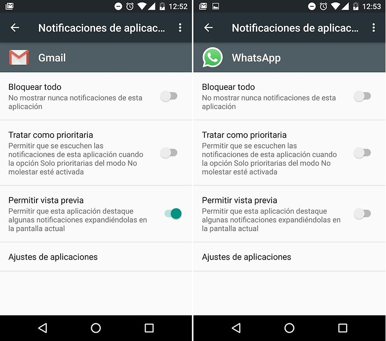 notificaciones vista previa