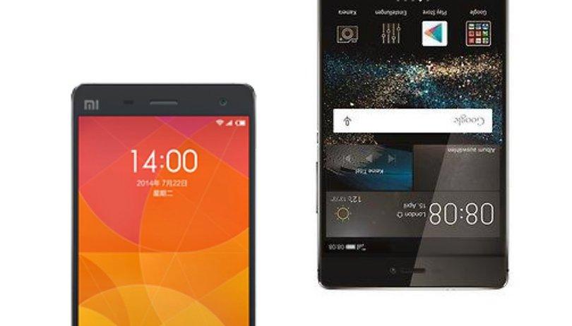 Huawei P8 vs Xiaomi Mi4 - Comparación de los mejores terminales diseñados en China