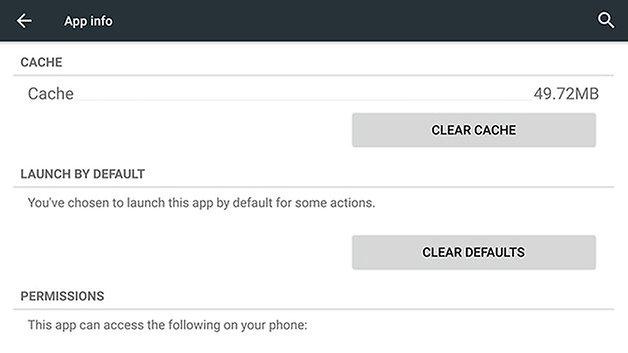 AndroidPIT Nexus 6 app cache