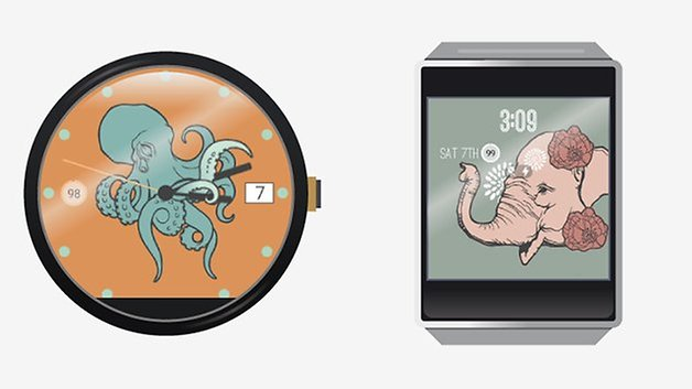 androidpit android wear illustration watch faces