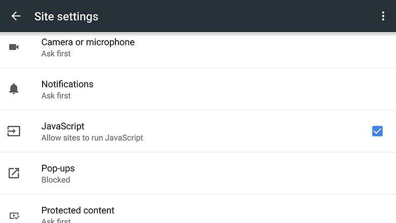 androidpit chrome javascript