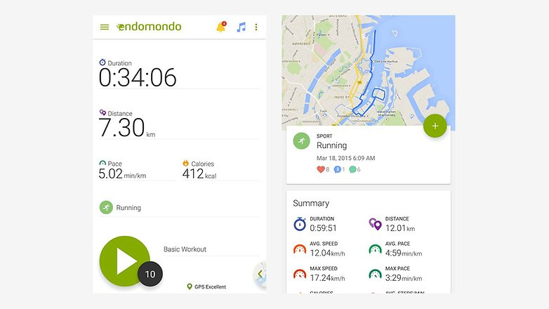 androidpit endomondo running cycling walk